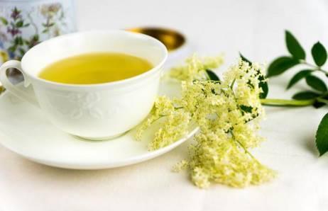 зеленый чай с бузиной