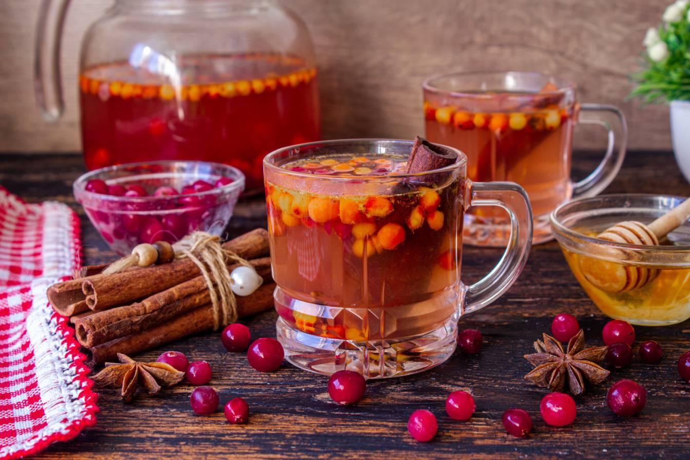 чай с облепихой и клюквой
