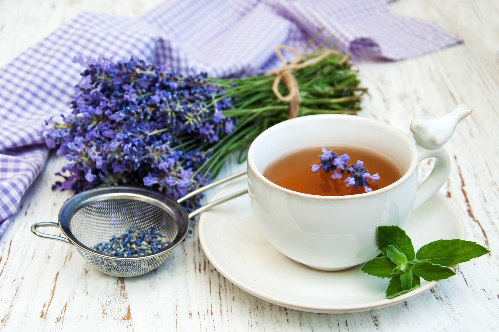 чай с лавандой и мятой