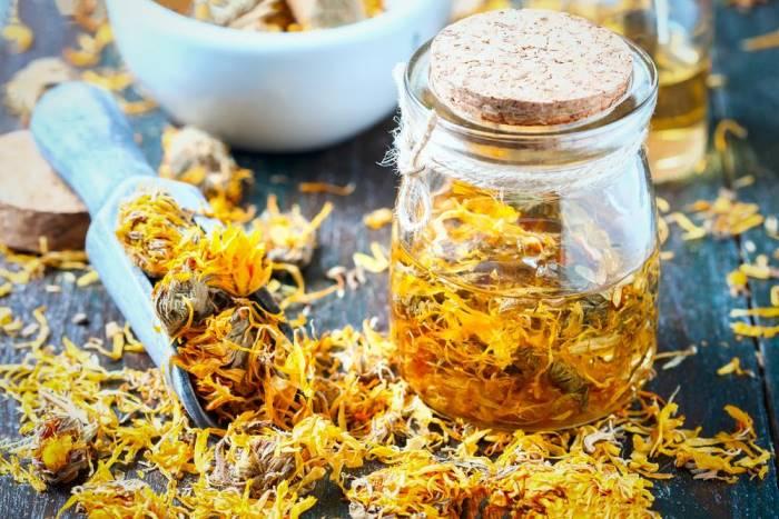 Чай из цветка календула